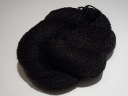 2 ply - Camelot Organic 100% Black Alpaca Yarn