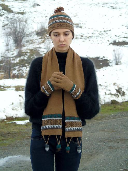 Brown Alpaca Hat