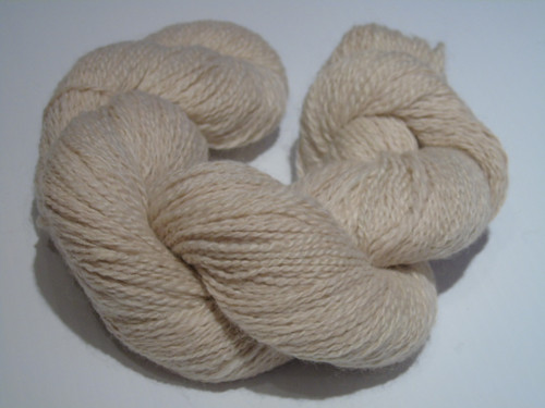 2 ply Alpaca yarn - white - 100%