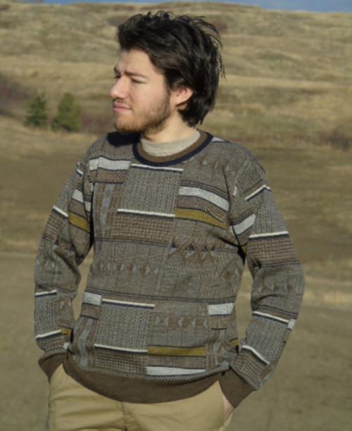 Alpaca Sweater - Geo Design