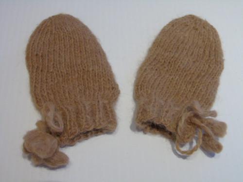 Organic baby Alpaca mittens