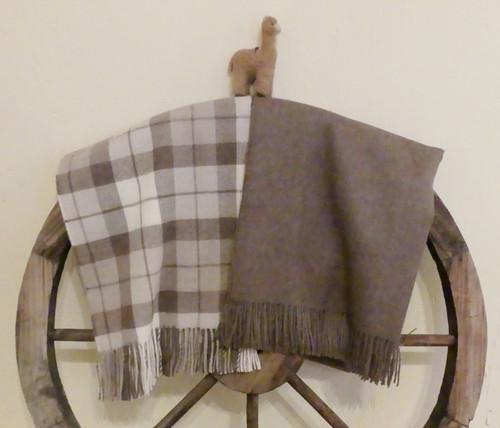 Baby Alpaca Throws - Cappucino