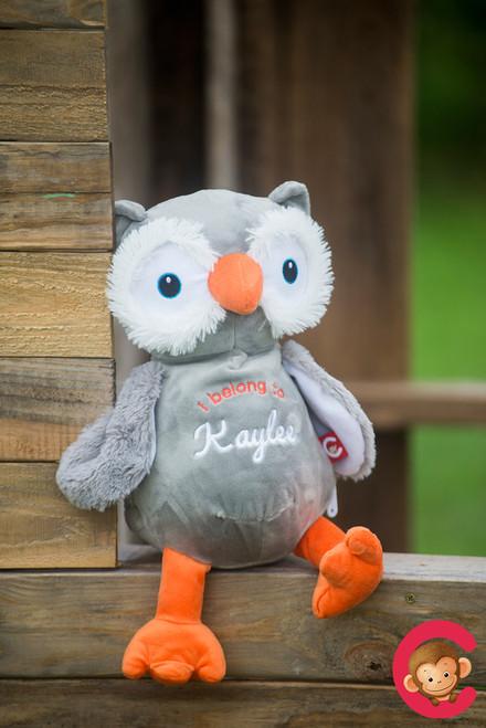 CUBBIES Owl Personalised Plush