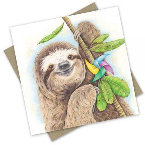 'A Party Sloth' Greeting Card