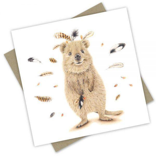 'Catching Feathers' Greeting Card