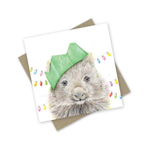 'Wombaty Christmas' Greeting Card