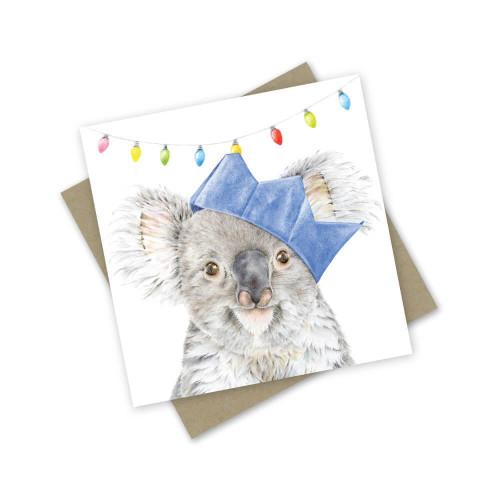 'Koala Tidings' Greeting Card
