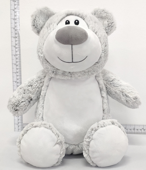 CUBBIES Silver/Grey Bear Personalised Plush