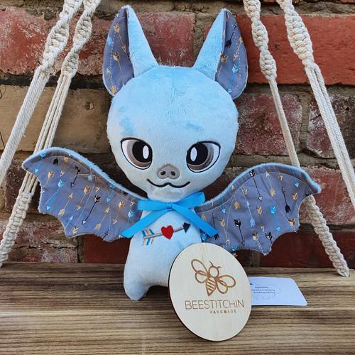 Blue Arrows Plush Bat