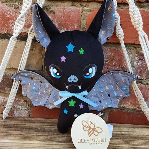 Black Arrows Plush Bat