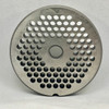 #22 Speco Meat Grinder Plate with 3/16'' Holes - Reversible & Hubbed Plate - 104619 & 102969