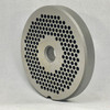 #22 Speco Meat Grinder Plate with 5/32'' Holes - Reversible & Hubbed Plate - 105641 & 103290