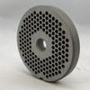 #12 Speco Meat Grinder Plate with 1/8'' Holes - Reversible & Hubbed Plate - 104794 & 106347