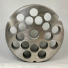 #52 Speco Meat Grinder Plate with 3/4'' Holes - Reversible & Hubbed Plate - 103514 & 106810