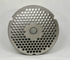 #32 Speco Meat Grinder Plate with 3/16'' Holes - Reversible & Hubbed Plate - 104772 & 105397