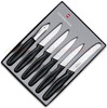 Victorinox - 6 Piece Paring Knife Set with Peeler Black Handle - 46652