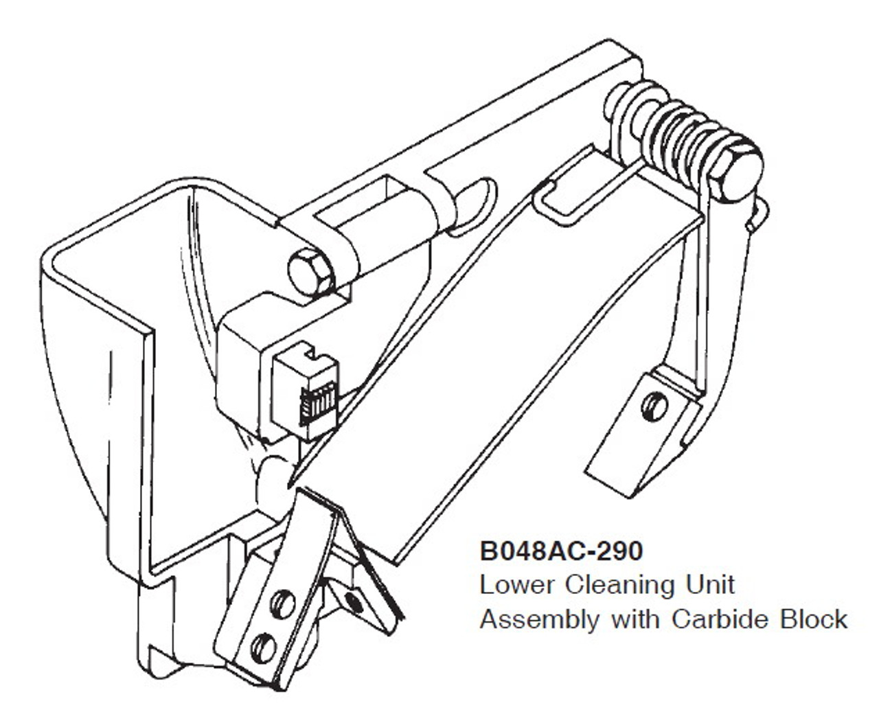 Biro Lower Cleaning Unit Assembly with Carbide Block - B048AC-290