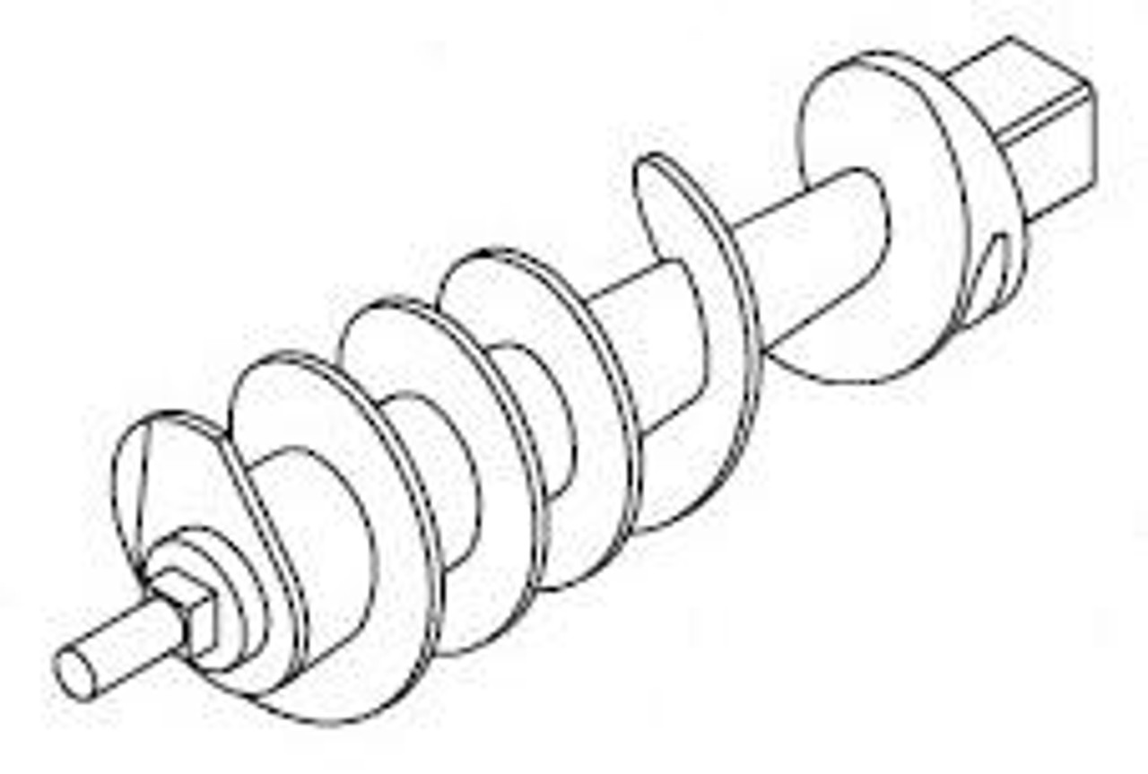 Hobart H534A - Worm Feed Screw - Hobart 4822 - Straight Head Bowl Only