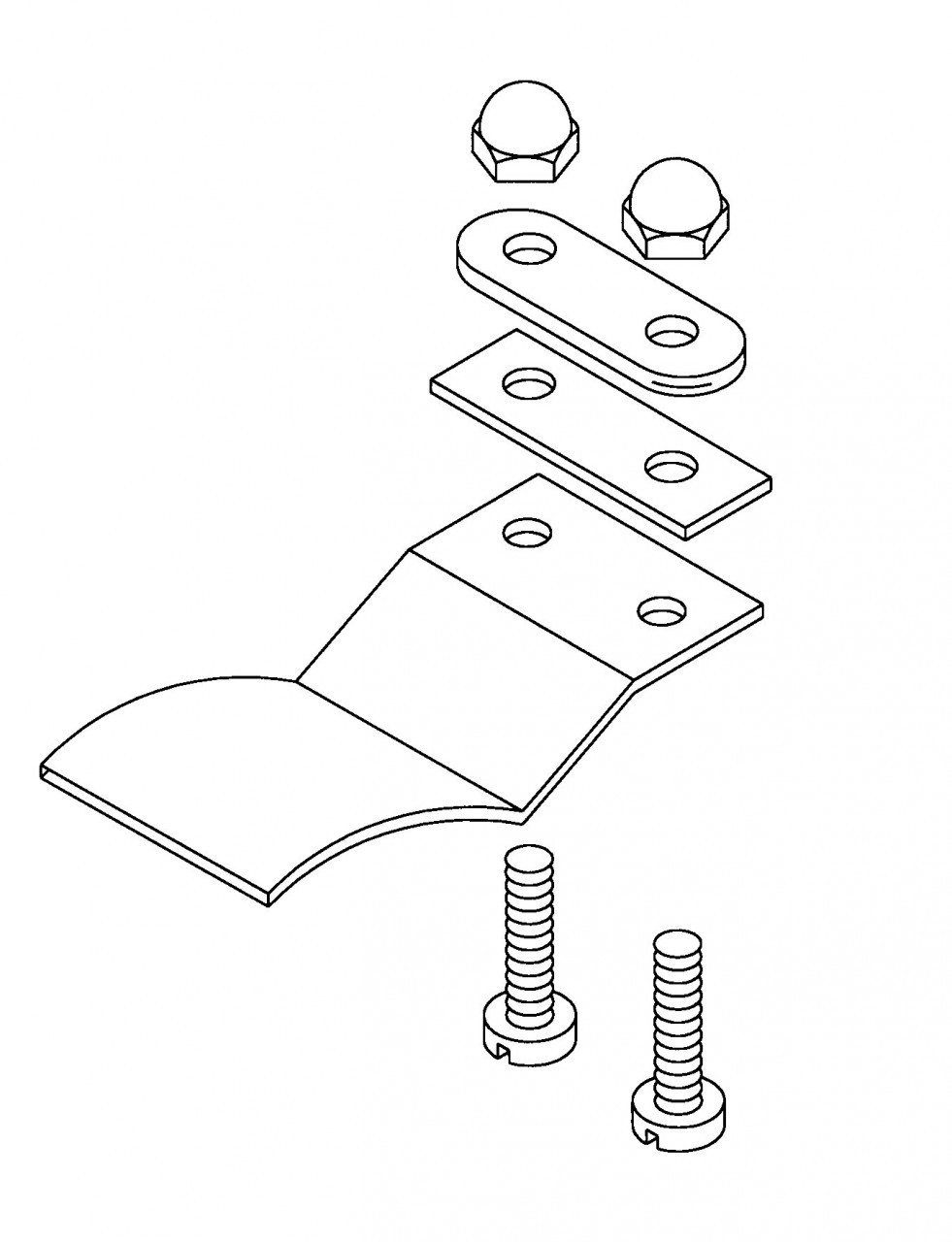Hobart Saws - Upper Door Clip Assembly - H065A