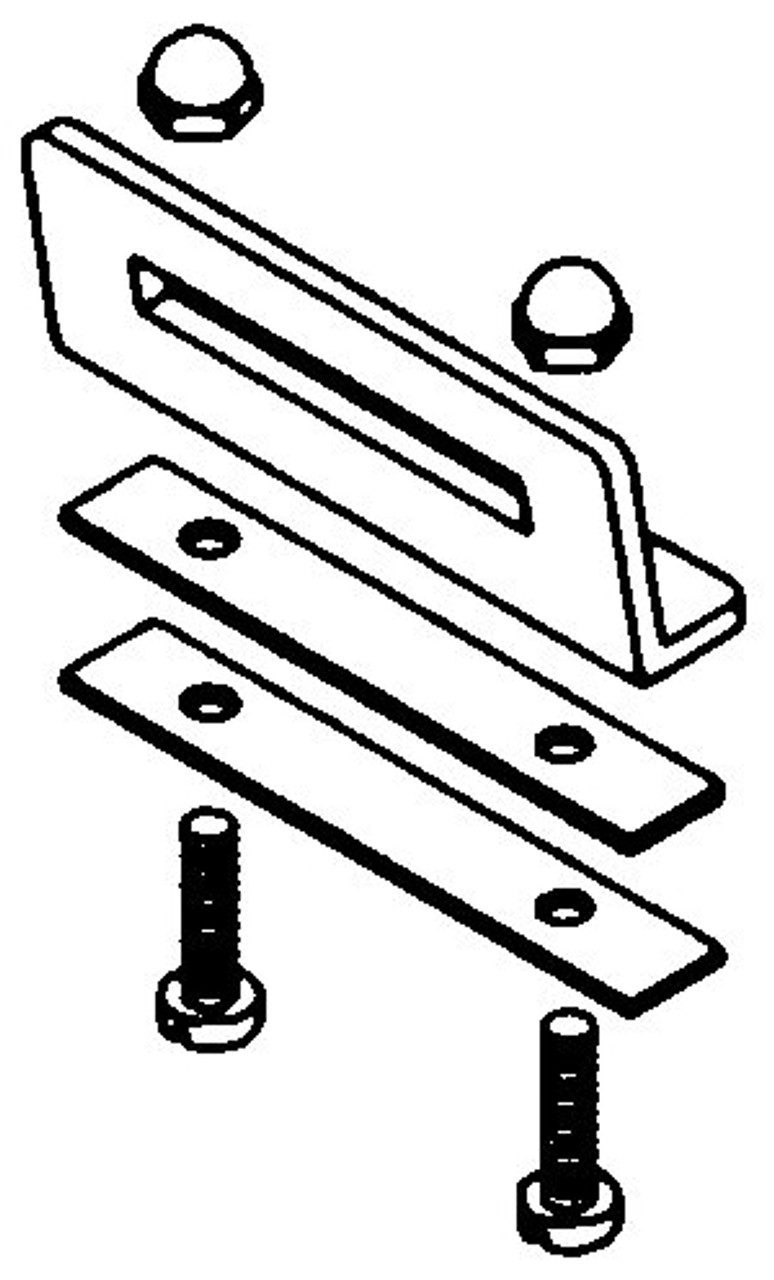 Hobart Saws - Upper Baffle Retaining Hinge Assembly - H068A