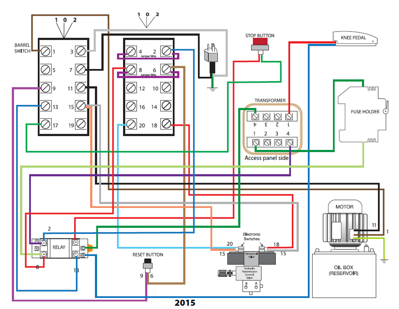 Wire Diagram for 20 Lead Switch