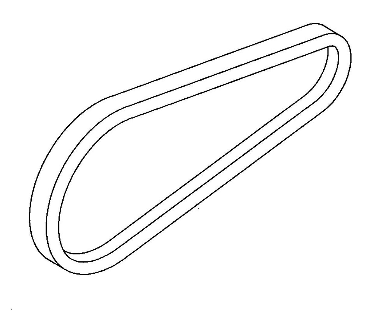 "Hobart HC34 Bowl Drive Belt ""V"""