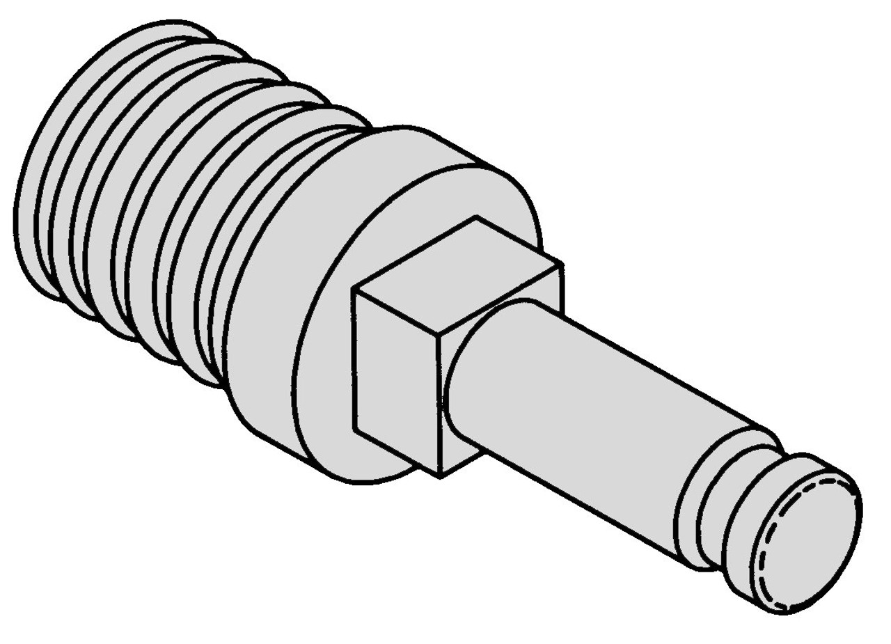 Biro Feed Screw Stud 722,822,922 - B605