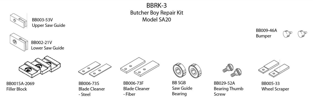 Butcher Boy SA20 - Repair Kit - BBRK-3