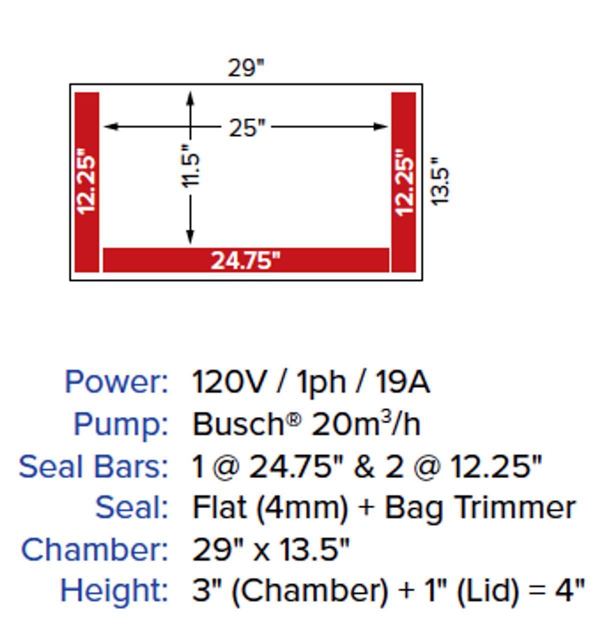 """MiniPack MV 41 VacBasic - """"Great for Fish"""" Chamber Vacuum Packing Machine"""