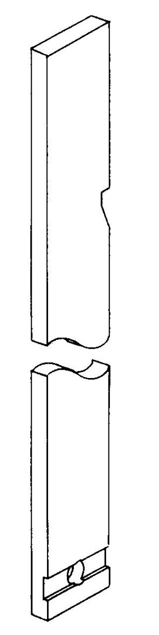 Butcher Boy B12,B14 & B16 - Blade Support Adjusting Bar - All Models - BB047-38A/12,BB047-38A/14.BB047-38A-16