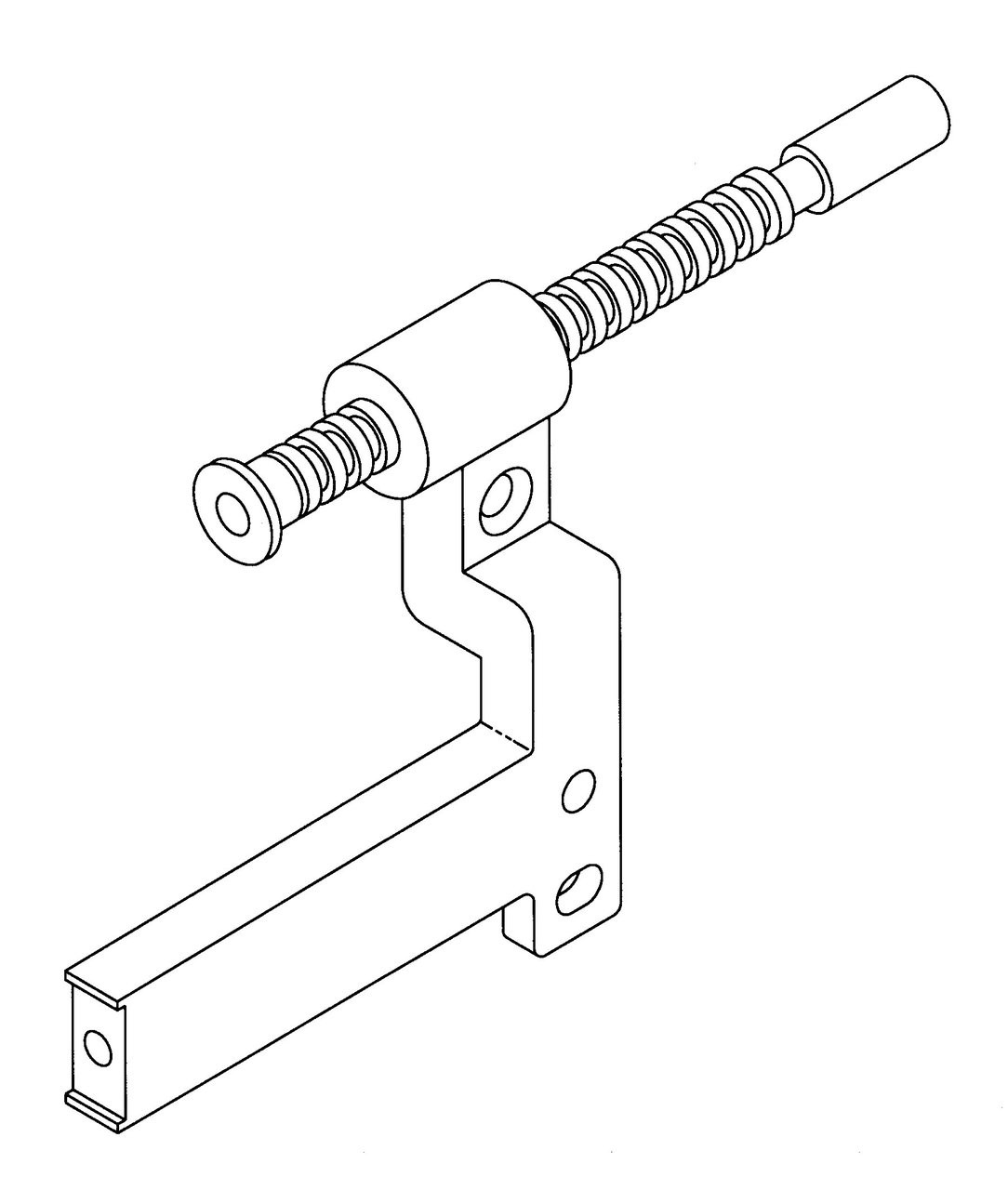 Butcher Boy B12,B14,B16 & SA16 - Gauge Spindle & Arm Assembly - BB056-624