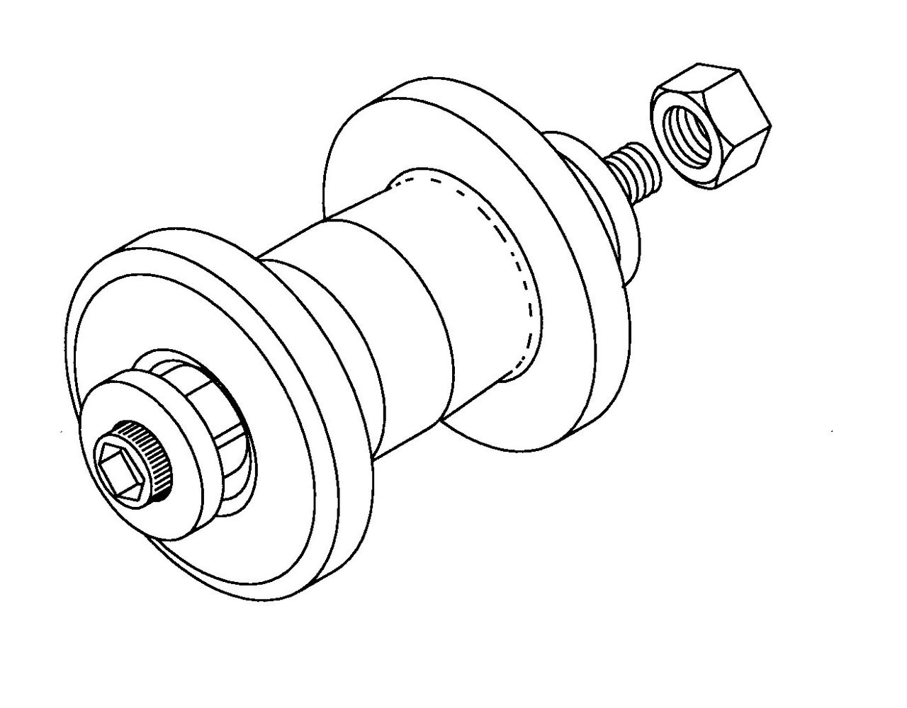 Butcher Boy Carrying Table Wheel Asssembly Wheel, Bearings & Axle - BB149A
