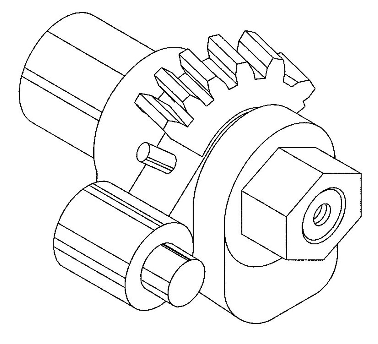 Globe Table Adjusting Gear Assembly - GS216A