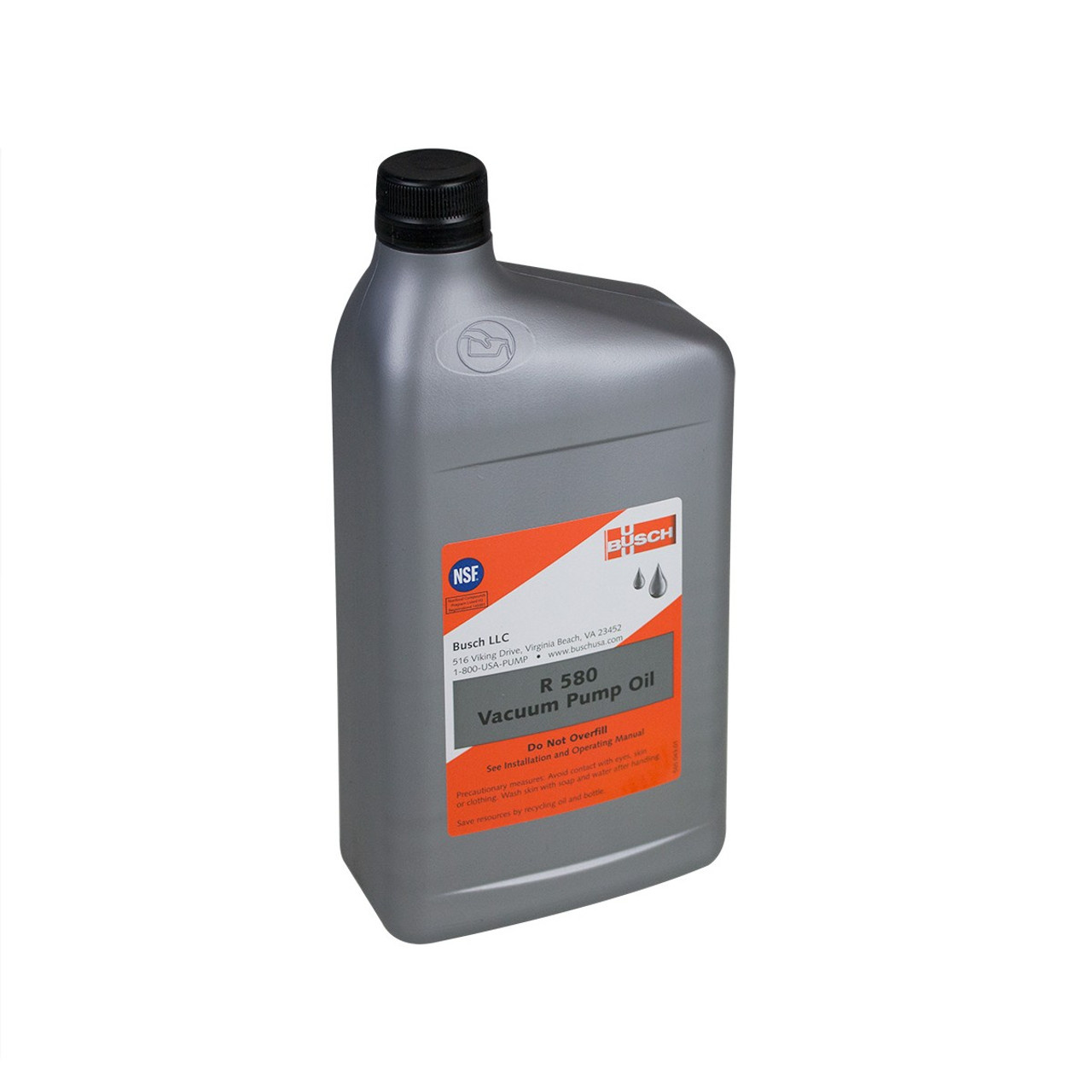 Busch 0831.908.403 Oil, R-580, 1 Quart Vacuum Pump Oil