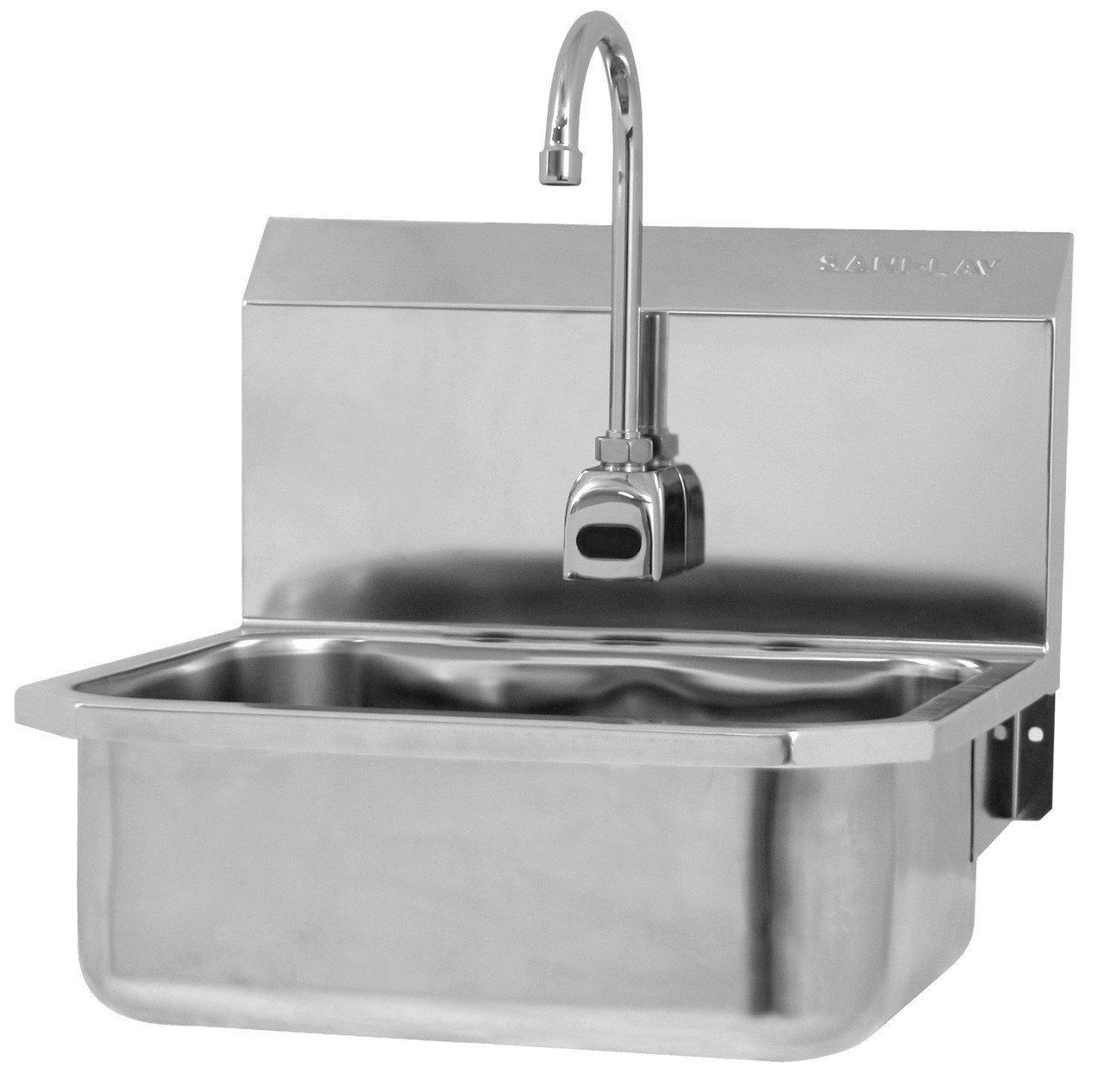 SANI-LAV ES2-525L & ESB2-525L Hands Free Sink - Stainless Steel - Wall Mount