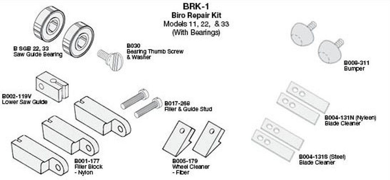 Biro Saw Repair Kit 11,22,33 - BRK-1
