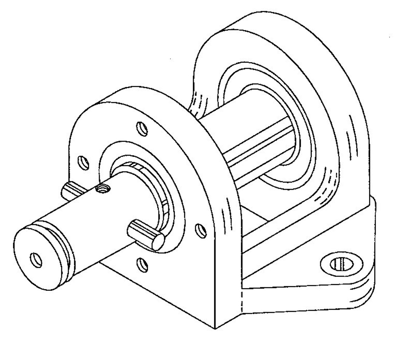 Hobart Saws - Upper Bearing Housing Assembly - H179A - 5700,5701,5801