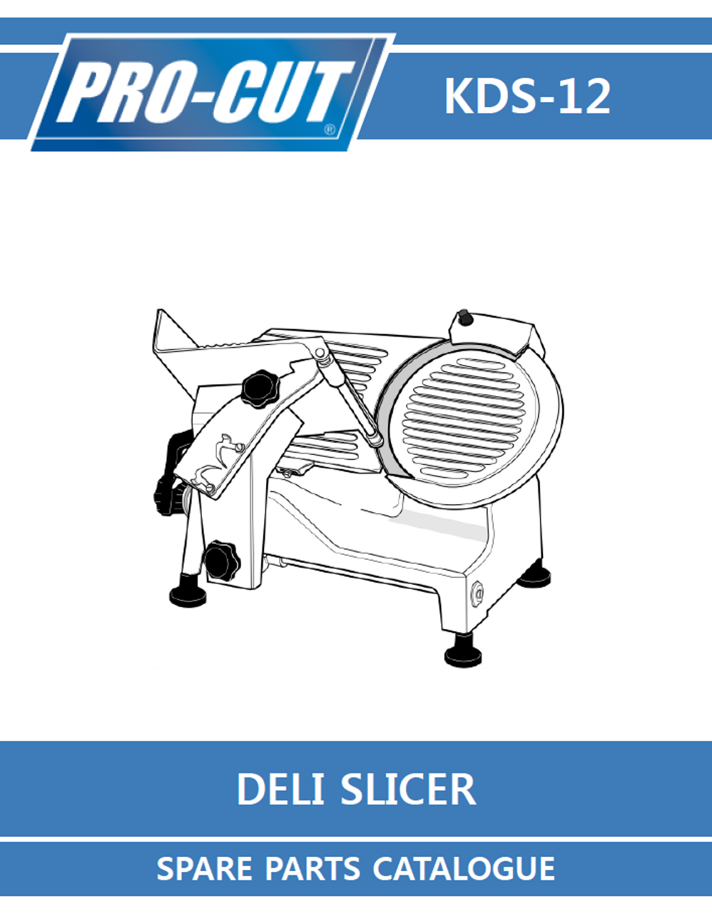 ProCut KDS-12 Meat & Deli Slicer Parts List