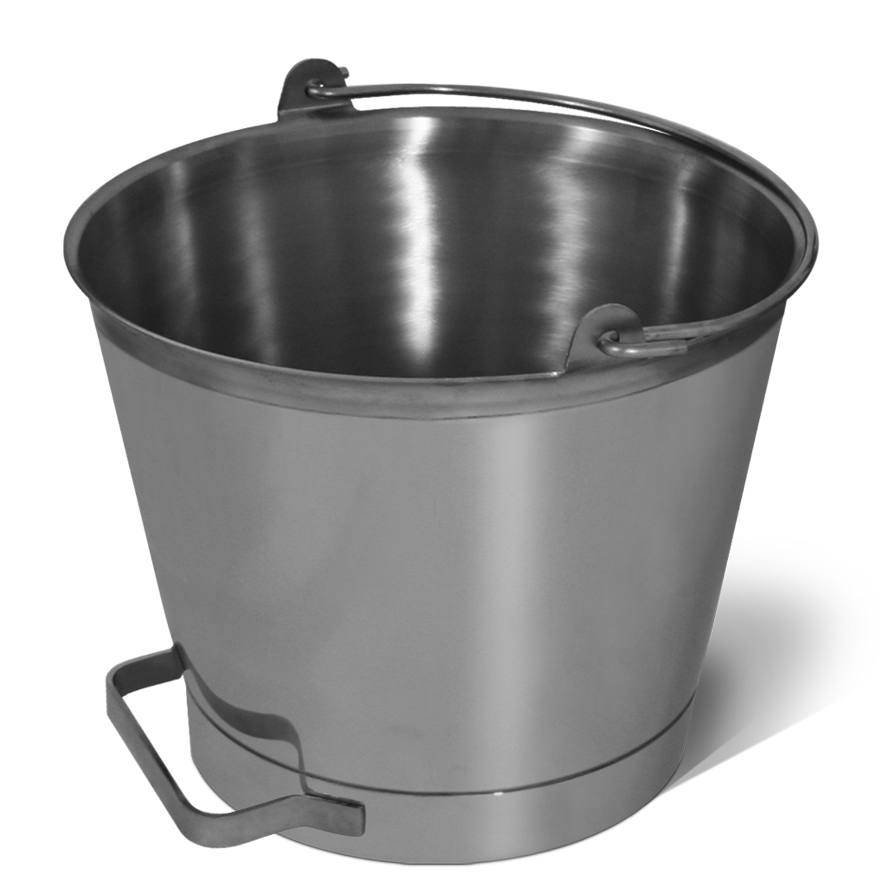SANI LAV - 13Qt Stainless Steel Pail w/ Handle - USDA and FDA Approved