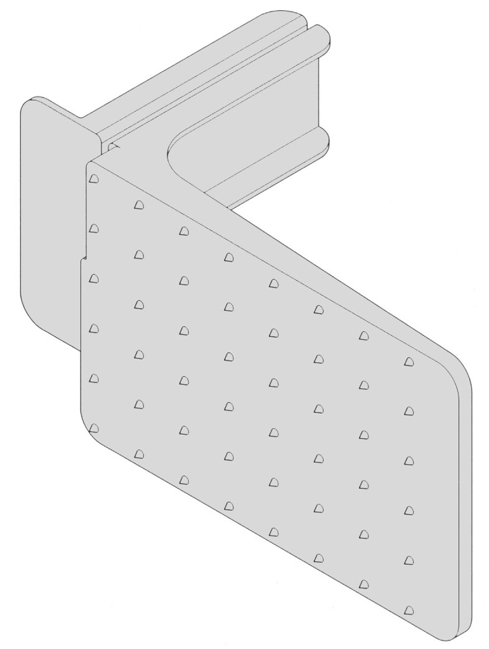 Biro Saw - Pusher Plate - B217