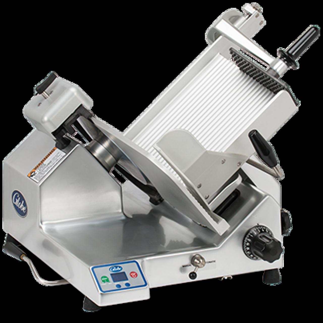 """Globe S13A -- 13"""" Heavy Duty Automatic Gravity Feed Slicer - 1/2 HP"""