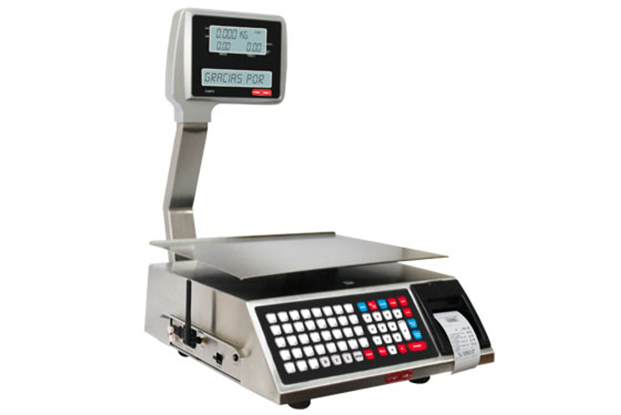Tor Rey - W-Label40L - 40lb. Pound Digital Price Computing Scale with Thermal Printer, Legal For Trade