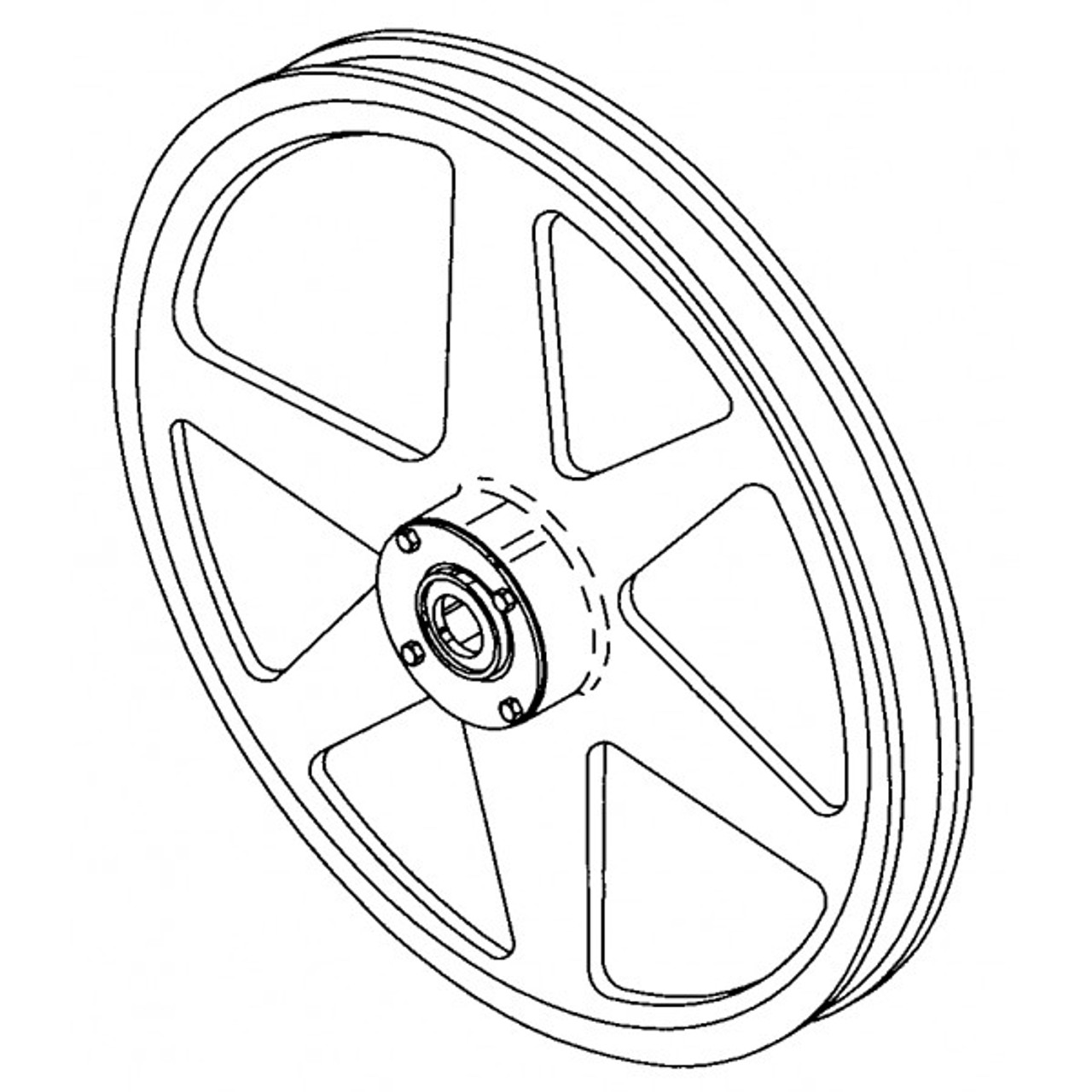 Hobart Saws - Upper Wheel Assembly - Model 6614 - H266A