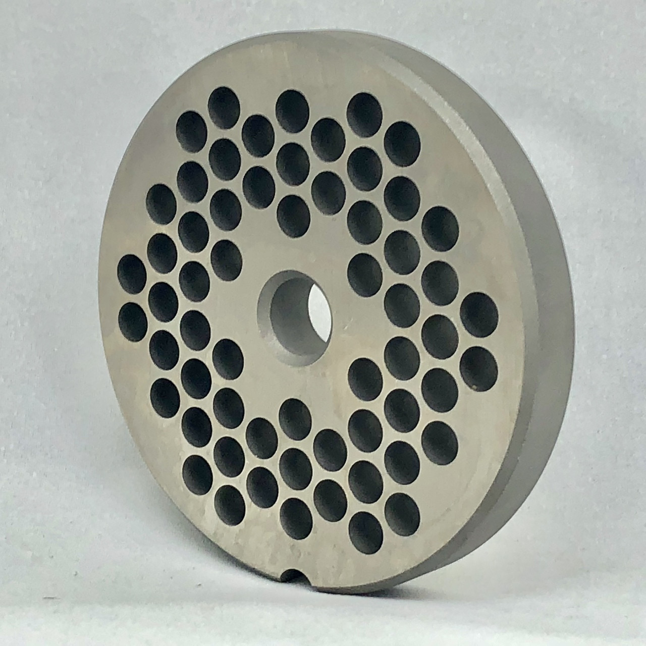 #22 Speco Meat Grinder Plate with 1/4'' Holes - Reversible & Hubbed Plate - 106843 & 103533