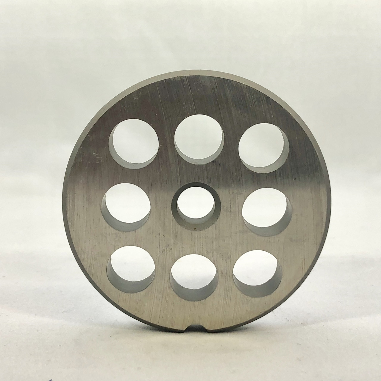 #12 Speco Meat Grinder Plate with 1/2' Holes - Reversible & Hubbed Plate - 107375 & 106800