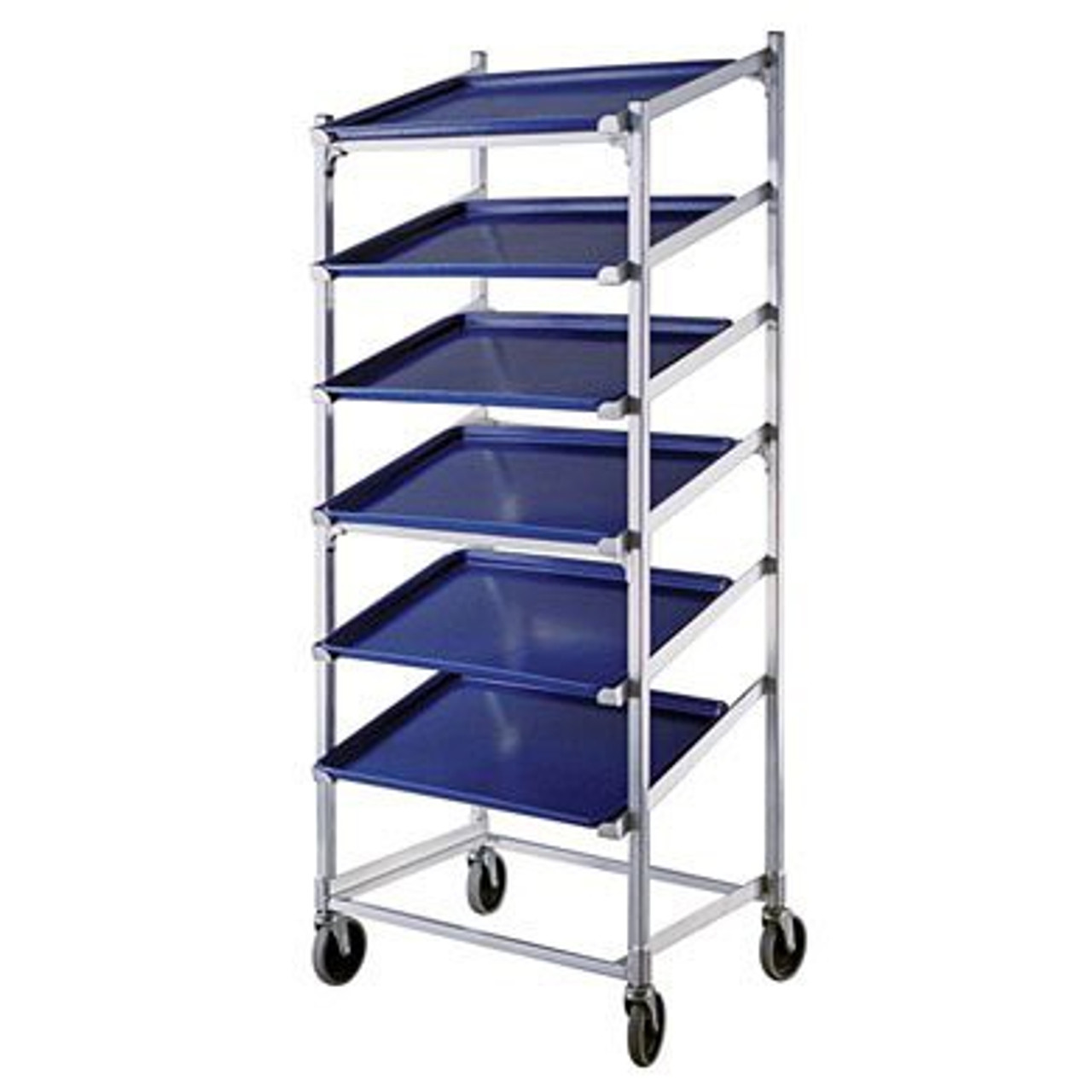 Aluminum 7 Tier - Slant Display Platter Dolly