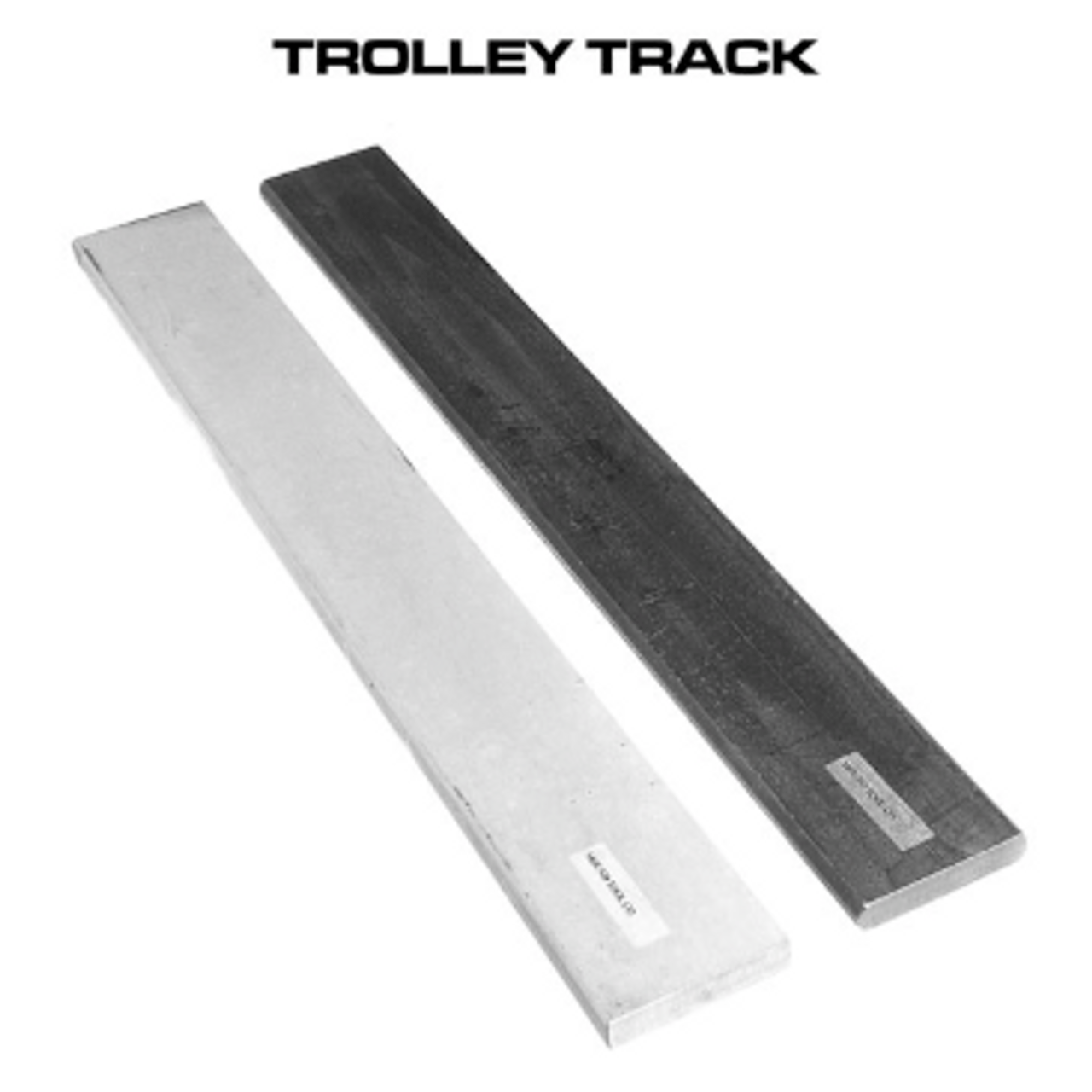 Trolley Tracks - Black Steel, Galvanized & Stainless Steel