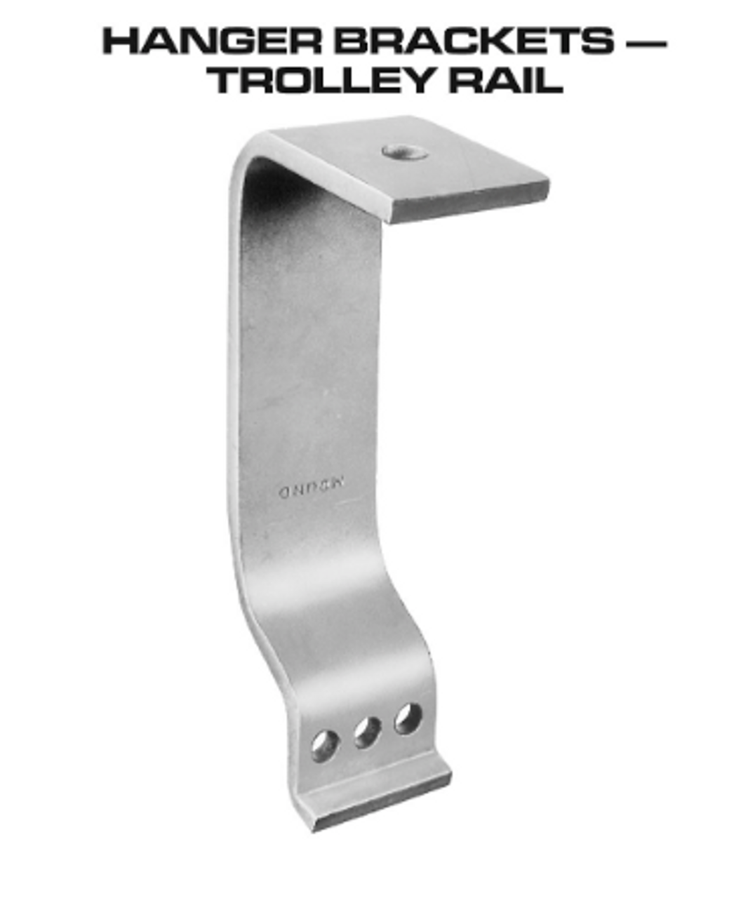 "Hanger Bracket - Trolley - 12"" - 1512"