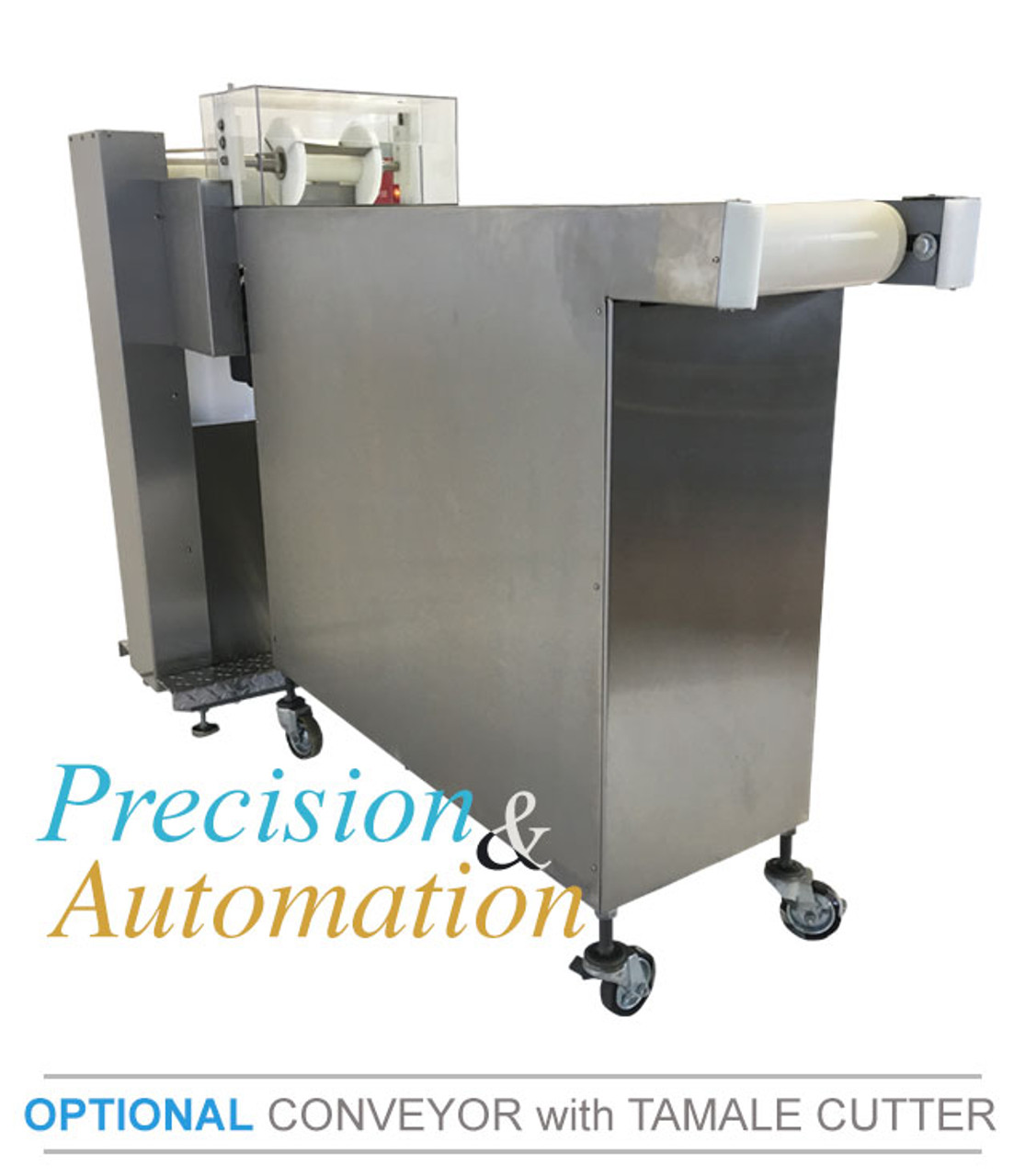 Optional: Conveyor with Tamale Cutter