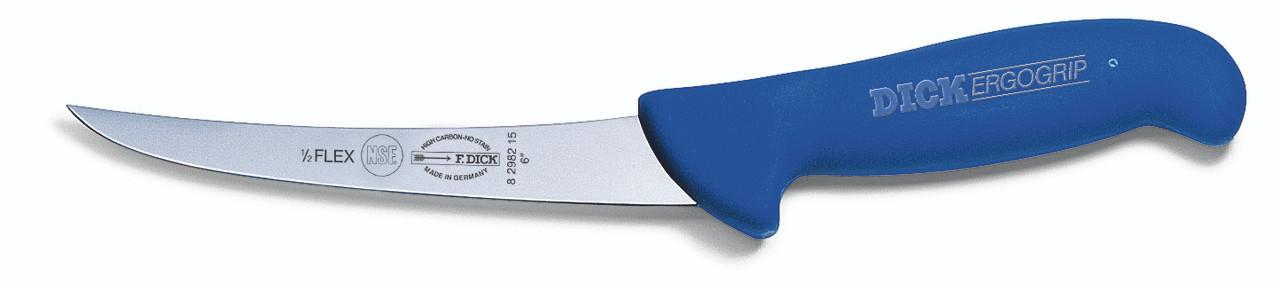 "F.Dick - 6"" Boning Knife, Curved Semi Flexible - ""ErgoGrip"" - 8298215"